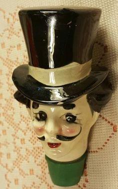 RareVtg-Arnart-Creations-Liquor-Decanters-3-Extr-head-5329-Japan-1950-039-s-V-G-C