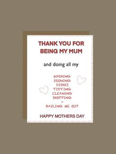 Mother's Day card, Funny Mother's Day card, Happy Mother's Day, from daughter, from son, Happy Mothers Day Daughter, Funny Mothers Day, Happy Mother S Day, Make Her Smile, Funny Cards, Blank Cards, A Funny, I Card, Fathers