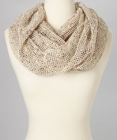 Take a look at this Ivory Rhinestone Net Infinity Scarf by David & Young on #zulily today! $12 !!