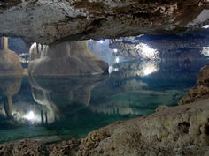 Cenotes are complexes of sinkholes and caves in the Karst geological landscape of the Yucatán.
