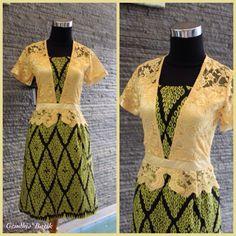 Tenun Futus NTT + lace Brukat best quality + furing + Lining Tricot. By Gendhis Batik Blouse Batik, Batik Dress, Batik Kebaya, Batik Fashion, Brokat, Silhouettes, Diana, Peplum, Clothes For Women
