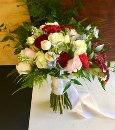 Blush, burgundy and white bride's bouquet Bride Bouquets, Beautiful Flowers, Wedding Flowers, Burgundy, Blush, Table Decorations, Weddings, City, Holiday
