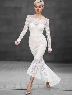 Sexy lace dresses. Love white and lace for this design
