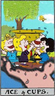Peanuts Tarot: Ace of Cups