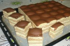 Tango řezy - Recepty - ŽENY s.r.o. Czech Desserts, Cookie Desserts, Sweet Cookies, Sweet Treats, Czech Recipes, Hungarian Recipes, Healthy Sweets, Sweet And Salty, International Recipes