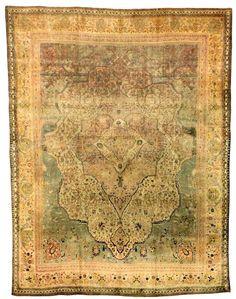Motashem Kashan Carpet late 19th C. Lot 251