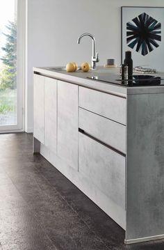 Ikea Kitchen Interior, Kitchen Decor, Kitchen Ideas, Concrete Kitchen, Kitchen Countertops, Küchen Design, House Design, Fixer Upper Kitchen, Kitchen On A Budget
