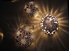 porcelain lights made by some Germany girls