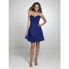 Pretty Maids 22537- love the ruffles on this bridesmaids dress