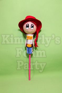 Jessie Toy Story Foam Pencil Topper por kimberlysfoamparty en Etsy