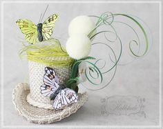 Mini Top Hat  Tiny Hat  Butterfly Mini Hat  by LittleMissHattitude, $42.00