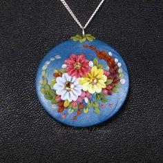 Collar Damasco Bouquet, arcilla polimérica