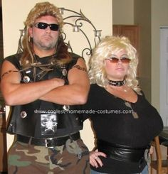 Cool Dog the Bounty Hunter and Beth Costume  sc 1 st  Pinterest & Dog the Bounty Hunter and wife Beth - Halloween Costume Contest at ...