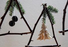 Weihnachtsbastelei aus Zweigen