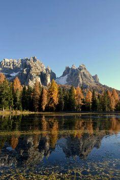 Lago di Antorno e Cadini di Misurina (foto di Matteo Andreetta) Belluno Dolomiti Veneto Italia