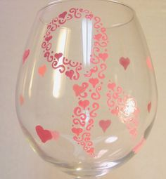 breast cancer painted glass