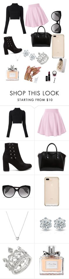 """effortless but chic"" by metilidoreen ❤ liked on Polyvore featuring Balmain, Givenchy, Alexander McQueen, Links of London and Christian Dior"