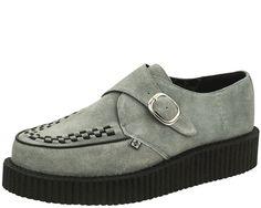 Classy Grey Buckle Viva Mondo Creepers   T.U.K. Shoes
