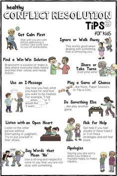 Conflict Resolution School Counseling Guidance Lesson_Tips for Kids on how to Deal with Conflict