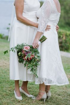 Greece is an ideal destination for a samesex wedding ceremony. A symbolic Wedding, is accompanied by a blessing and a commitment ceremony for LGBT people. Lesbian Wedding, Church Wedding, Wedding Ceremony, Wedding Planner, Destination Wedding, Greece Outfit, Two Brides, Greece Wedding, Wedding Bridesmaid Dresses
