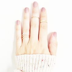 Gold layered rings
