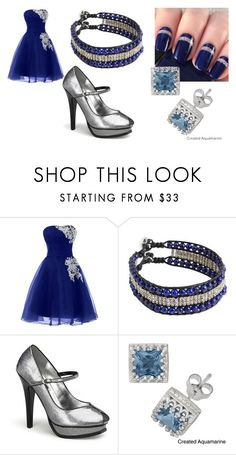 """""""Royal Blue"""" by kyouya on Polyvore featuring NOVICA, Pinup Couture and Gioelli Designs"""