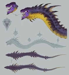 Leviathan Concept Art from Darksiders Genesis drawing monsters Leviathan Concept Art - Darksiders Genesis Art Gallery Monster Concept Art, Alien Concept Art, Creature Concept Art, Fantasy Monster, Monster Art, Creature Design, Subnautica Concept Art, Subnautica Creatures, Mythical Creatures Art