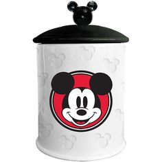 Mickey Mouse Portrait Ceramic Cookie Jar - Shows His Famous Signature Inside