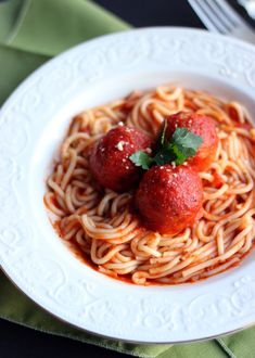 Culinary Couture: Spaghetti and Meatless Meatballs