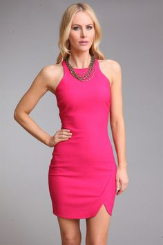 Bardot Mini Dress in Fuchsia from Elizabeth and James at Krista K