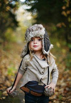 trapper hat. so cute.