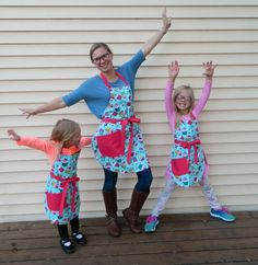 Reversible Mother Daughters Cupcakes Apron Set Mommy by NessasNest