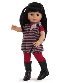 Lis - Soy Tu Doll, Paola Reina America, Multicultural dolls, Asian Doll, Adorable Outfit, 100 % Made in Spain , Made in Europe, A doll for every child