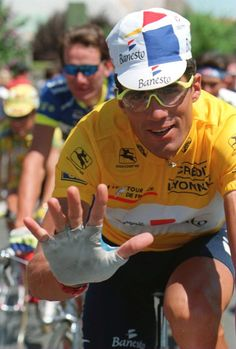 Miguel Indurain, 1995 Tour de France, his fifth tour win.