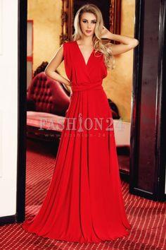 Rafinata si eleganta, rochia versatila Red Energy este tot ceea ce ai nevoie pentru o noapte de vis. Aceasta are peste 15 modalitati de prindere | Fashion-24.ro Red Energy, Formal Dresses, Lei, Mall, Style, Fashion, Dresses For Formal, Swag, Moda
