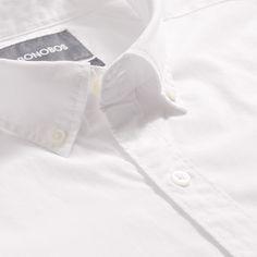 Bonobos Washed Button-Down Shirt (White) - Tailored Short Xs