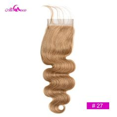 Brazilian Body Wave Remy Human Hair 4*4 Lace Closure | africanfashionhair Middle Parts, Hair Color, Color 2, Brazilian Body Wave, Lace Hair, Remy Human Hair, Lace Closure, Hair Type, African Fashion