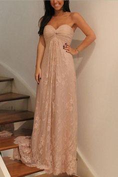 bd32695f30f7 Prom Dress Pink, Bridesmaid Dresses Lace, Bridesmaid Dresses A-Line, Bridesmaid  Dresses