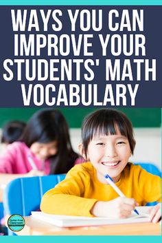 This blog post offers tons of ways you can improve your elementary students' math vocabulary. These math vocab teaching ideas and tips will improve the quality of number talks and math discussions by increasing the amount of math talk students use naturally. Check out these ideas now! #mathvocabulary #mathvocab #teachingmath