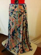 25% OFF! BUY IT NOW! FREE SHIPPING!  Paisley Knit Full Skirt Lily Size Medium Side Knot Navy Coral & Olive