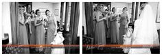 just look at the expressions on the bridesmaids faces...beautiful wedding. Basingstoke wedding photographer. Hampshire.