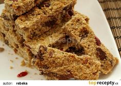 Flapjack recept - TopRecepty.cz Krispie Treats, Rice Krispies, Banana Bread, Cooking, Fit, Desserts, Cakes, Kitchen, Tailgate Desserts