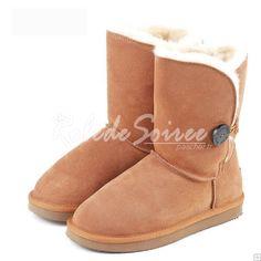 Bottes Fourrées-Elégant classiques bottes de neige BGG en bottes mode sexy botte