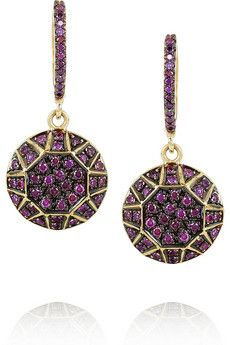 Ileana Makri  Dangling Gem 18-karat gold diamond earring