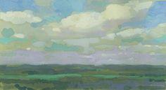 View from Sugarloaf II by Bernard Dellario, Gouache, 8 x 12