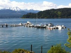 Olympic Mountains and the Hood Canal Marina (formally Union Marina)