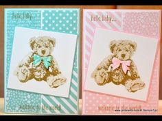 Baby Bear Card - JanB UK Stampin' Up! Demonstrator Independent