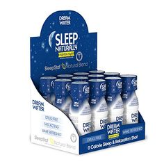 Dream Water Natural Sleep Aid GABA MELATONIN 5HTP 25oz Shot NighTEA Night 12 Count >>> You can get additional details at the image link.