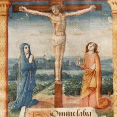 Jean Colombe, The Crucifixion. Find this and other books and manuscripts for sale on CuratorsEye.com.