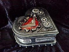 Steampunk Heart shaped box by Stewart at www.Stewdio61.com